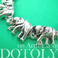 Elephant Parade Animal Charm Chain Linked Bracelet in Silver