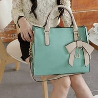 New Style Hit Color Three-dimensional Bow Handbag