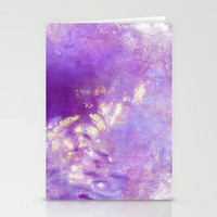 abstract in purple Stationery Cards by agnes Trachet