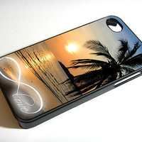 Infinity Love Sunset Beach  iPhone 4 / iPhone 4S by CustomCazeShop
