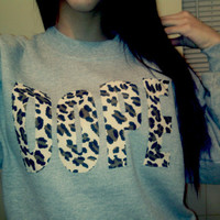Leopard DOPE Sweatshirt by FlowerSourDiesel on Etsy