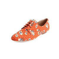 Floral Canvas Lace-Up Oxford: Charlotte Russe