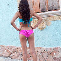 Brazilian  Bow  Bikini Bottoms in Bright by CaipirinhaBikini