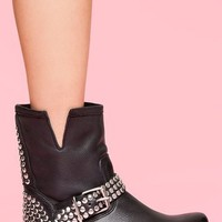 Frankie Studded Boot in  What's New at Nasty Gal