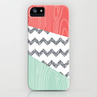 Wood Grain &amp; Glitter iPhone Case by PrintableWisdom | Society6