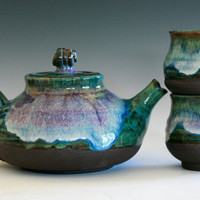 Handmade Ceramic Tea Set, Handmade Stoneware Teapot