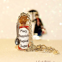 MARY POPPINS Spoonful of Magical Sugar Necklace including a Spoon Charm - UNIQUE