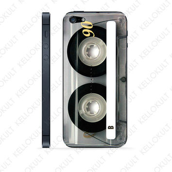 iPhone 5 Retro Clear Cassette Skin by kellokult on Etsy