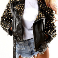 Aaron Spiked Leather Jacket