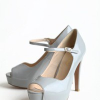 All For You Gray Heels | Modern Vintage Shoes | Modern Vintage Bridal
