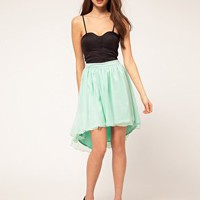 Rare | Rare Corset Dip Hem Dress at ASOS