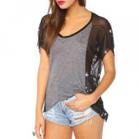 Starstruck Mesh Tee | NASTY GAL 
