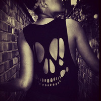 Skull Cutout Vest