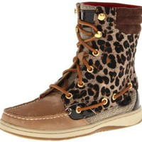 Sperry Top-Sider Women`s Hikerfish Boot in Linen/Leopard: Shoes