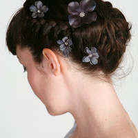 Arabella Flower Hair Clips Bobby Pins in by sweetlittlesparrow