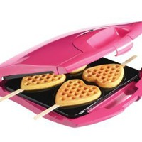 Babycakes Nonstick Waffle Maker Makes 4 Heart Waffles on Sticks: Kitchen &amp; Dining