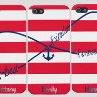 Best Friends Forever Nautical iPhone Case -Infinity Best Friends Iphone Case, Three Case Set,  Anchor Best Friends Iphones