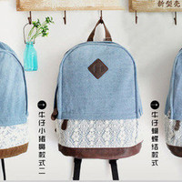Pig Nose and Bow Tie Denim Bag [83]