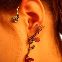 Pair of Ear Cuffs with black accents