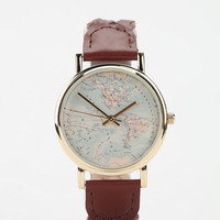 Urban Outfitters - Braided Leather Map Watch