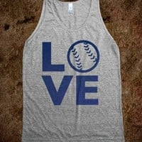 Love Baseball (Blue Tank) - Sports Girl