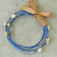 Luminescent Cobalt Bracelet [2204] - $21.00 : Vintage Inspired Clothing & Affordable Fall Frocks, deloom | Modern. Vintage. Crafted.