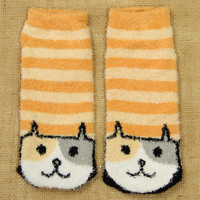 Ankle Socks: Orange Cat - $3.99 : Spotted Moth, Chic and sweet clothing and accessories for women