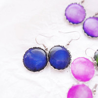 Nautical navy blue earrings - Spring Collection