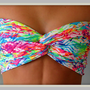 NEW - Neon Chevron Bandeau - Spandex Bandeau - Bandeau Top