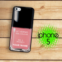 iPhone 5 Case Custom Personlized Bottle Of Nail Polish  / Hard Case For iPhone 5 Plastic or Rubber Trim