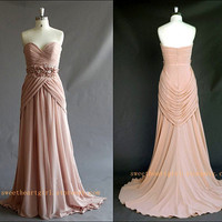 2013 Sweetheart neckline Long Chiffon Prom Dress