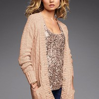 Slouchy Cable Cardi Sweater