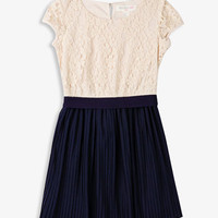 Pleated Lace Combo Dress