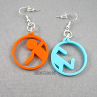 Laser cut acrylic Portal Earrings
