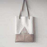 Silver Mountain Leather Tote bag No. TL- 4001