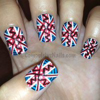 Tribal/Aztec Union Jack British Flag
