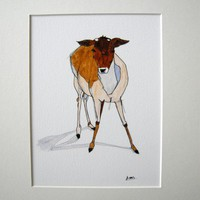 Young Deer print from Alexandra Ashby  | Made By Alexandra Ashby | £55.00 | Bouf