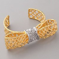 Alexis Bittar Pave Woven Bow Cuff | SHOPBOP