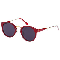 "ROMWE | Red Trimmings ""Lag Spikes"" Sunglasses, The Latest Street Fashion"