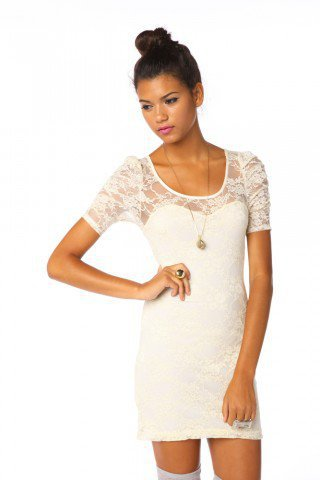 Lace Sweetheart Dress - Cream | NASTY GAL | Jeffrey Campbell shoes, Evil Twin, MinkPink, BB Dakota, vintage dresses   more!