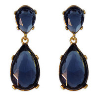 Deep Blue Drop Earrings | Rent The Runway