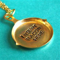Insert Bacon Here Necklace - Spiffing Jewelry