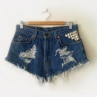 Levi High Waist Super Short Cut Offs Shorts by thePROFESSAVANESSA