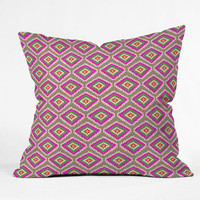 DENY Designs Home Accessories | Bianca Green Aztec Fiber 4 Throw Pillow
