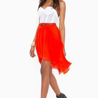 Chiara Chiffon Skirt  in  Clothes at Nasty Gal