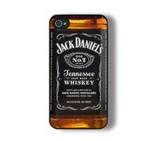 Unique Iphone 4 Case, Iphone 4s Case, Cool Jack Daniel Whiskey Iphone Case, Personalized Iphone 4 Case: Cell Phones &amp; Accessories