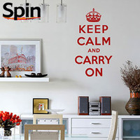 Keep Calm and Carry On Wall Sticker Large - Classic Quote Wall Transfer