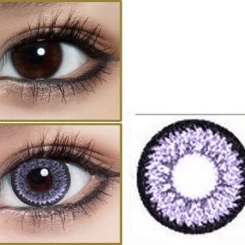 365 days Color Contact Lenses Lentilles de Couleur Purple color