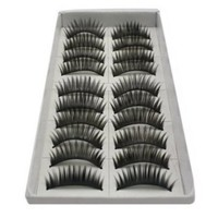 SODIAL- 10 Pair Long Black False Eyelashes Eye Lashes Makeup: Beauty