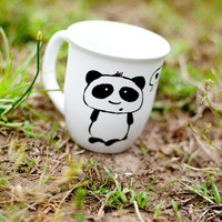 Black and White Panda Coffee MMMug by betwixxt on Etsy